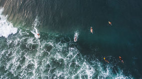 Aerial surfing view Royalty Free Stock Photography