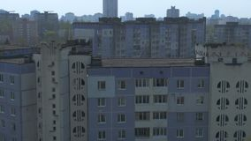Aerial survey. Cityscape, old architecture. stock video footage