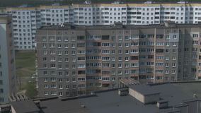 Aerial survey. Cityscape, old architecture. stock footage