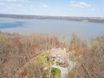 Aerial of Susquehanna River and Surrounding Area in Delta, Penns. Ylvania Stock Photos