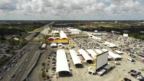 Aerial swap shop flea market Florida