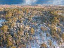 Aerial taiga 11 sky Stock Photos