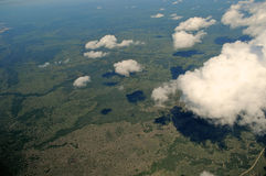 Aerial tanzania Royalty Free Stock Photography