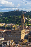 Aerial telephoto view of Florence from one of many towers, Tuscany Stock Images
