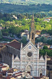 Aerial telephoto view of Florence from one of many towers, Tuscany Stock Photos