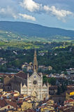 Aerial telephoto view of Florence from one of many towers, Tuscany Stock Image