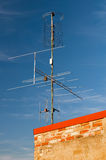 Aerial Television Antenna Stock Photo