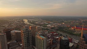 Aerial Tennessee Nashville stock video footage
