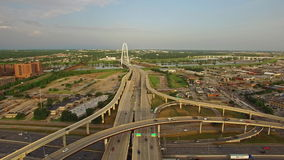 Aerial Texas Dallas stock video footage