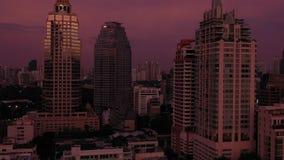 Aerial Thailand Bangkok Downtown September 2019 Sunset 4K Mavic Pro