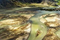 Aerial Tibet mountain Royalty Free Stock Photo