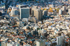 Aerial Tokyo Cityscape Royalty Free Stock Photography