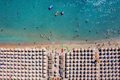 Free Aerial Top Down View To A Busy Beach, Greece Royalty Free Stock Photo - 159869065