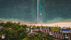 Aerial Top View of Luxury Hotel on Tropical Island. Shot with a DJI Mavic fps29,97 4k stock footage