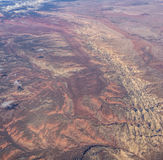 Aerial Topography--The American Southwest Stock Image