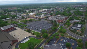 Aerial tour Downtown Tallahassee Florida stock footage
