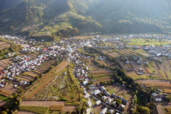 Aerial town. Aerial view of a town Stock Image