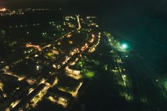 Aerial Townscape at Night stock photos