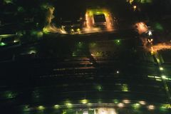 Aerial Townscape at Night royalty free stock photos