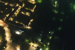 Aerial Townscape at Night stock image