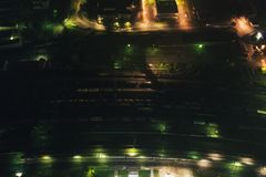 Aerial Townscape at Night royalty free stock photography