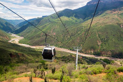 Aerial Tram in Chicamocha Canyon Stock Photos