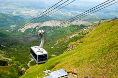 Aerial tram in mountains Royalty Free Stock Photos