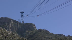 Aerial tram New Mexico stock footage
