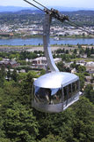 Aerial tram, Portland OR. Royalty Free Stock Images