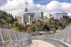 Aerial tram transporting people in Portland Oregon. Stock Photography