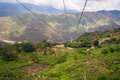 Aerial Tram View Royalty Free Stock Images