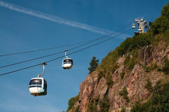 Aerial tramway (cable car) - Cermis, Italy Stock Image