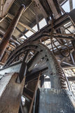 Aerial tramway mechanism. Wheel mecahnism of an aerial tramway at Guano point Stock Photography