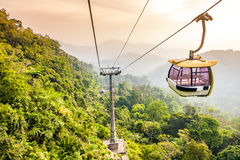 Free Aerial Tramway Moving Up In Tropical Jungle Mountains Stock Photos - 38766473