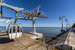 Aerial Tramway Park of Nations Lisbon Royalty Free Stock Image