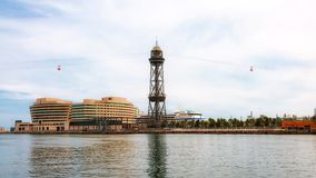 Aerial tramway, Port Vell, Barcelona, Spain Royalty Free Stock Photo