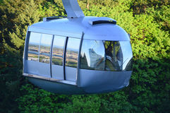 Aerial tramway in Portland. This photo was taken in Portland. The Portland Aerial Tram or OHSU Tram is an aerial tramway in Portland, Oregon, carrying commuters Stock Photos