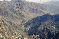 Aerial Tramway Way View Stock Photo