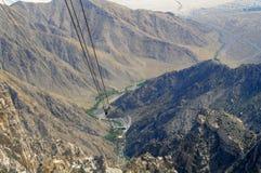 Aerial Tramway Way View. San Jacinto State Park, Palm Springs, California, USA Stock Photo