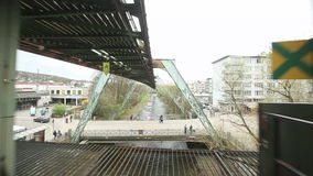 Aerial Tramway Wuppertal stock video