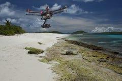 Aerial tropical patrol Stock Photos