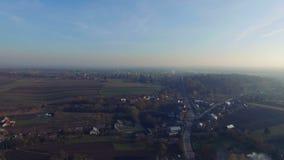 Aerial of the Ukrainian picturesque villages stock video