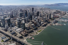 Aerial of Urban Downtown San Francisco Stock Photo