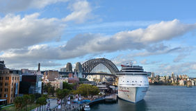Aerial urban landscape view of Sydney Circular Quay in Sydney Ne Royalty Free Stock Photography