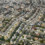 Aerial of urban sprawl. stock photography
