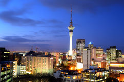 Aerial urban view of Auckland financial center skyline CBD at du Royalty Free Stock Photos