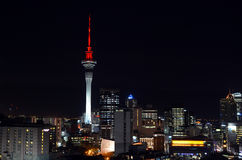 Aerial urban view of Auckland financial center skyline CBD at ni Stock Photography