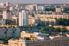 Aerial urban view cityscape of Minsk, Belarus Stock Photos