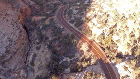 Aerial Utah Zion National Park stock video footage