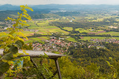 Aerial valley view. royalty free stock photography